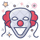 Scary Clown Evil Joker Halloween Icon