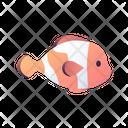 Clownfish Fish Reef Icon