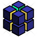 Cluster Stack Cut Icon