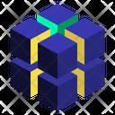 Cluster Geometric Cube Icon