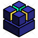 Stack Cluster Cut Icon