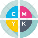 Cmyk Color Model Icon