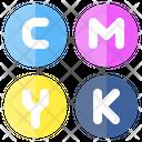 Icmyk Cmyk Color Icon