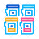 Color Cartridges Polygraphy Icon