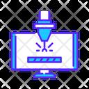 Cnc Program Laser Diagram Laser Beam Icon