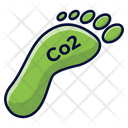 Co 2 Co 2 Footstep Pollution Icon