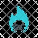 Co Gas Fire Burn Icon