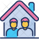 Co Living Home Sharing Icon
