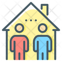 Co Living Home Sharing Home Icon