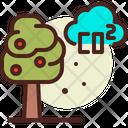 Co 2 Carbon Dioxide Eco Energy Icon