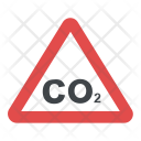 CO2 Warning Sign Icon