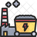 Coal Factory Mining Cart Icon