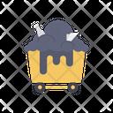 Coal Basket Bucket Icon