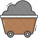 Coal Trolley Mining Icon