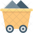 Coal Cart Construction Icon