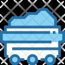 Coal Wheelbarrow Cart Icon
