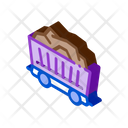Coal Cart Mining Icon