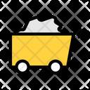 Coal Cart Construction Cart Coal Mining Icon