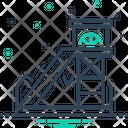Coal Mining Equipment Excavator Icon