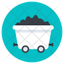 Coal Mining Coal Cart Mining Wheelbarrow Icon