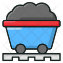 Coal Transportation Mining Cart Mining Trolley Icon