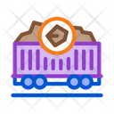 Coal Trolley Mining Icon