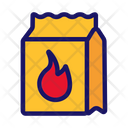 Coals Packaging Barbeque Icon