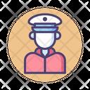 Coast Guard Captain Marine Corp Icon