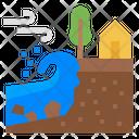 Coastal Erosion Climate Change Landslide Icon