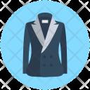 Coat Dress Woolen Icon