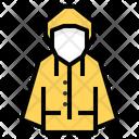 Raincoat Coat Clothes Icon