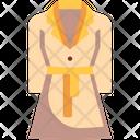 Coat Garment Raincoat Icon
