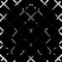 Coat Fabric Garments Icon