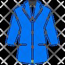 Coat Jacket Woman Icon