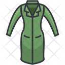Fitted Coat One Piece Icon