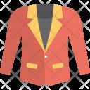 Coat Blazer Red Icon