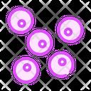 Coccus Bacteria Color Icon