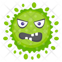 Microorganism Coccus Character Scary Bacteria Icon