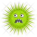 Microorganism Coccus Microorganism Scary Bacteria Icon