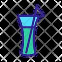 Mocktail Juice Straw Icon