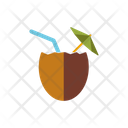 Cocktail Coconut Drink Icon