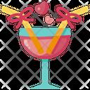 Cocktail Love Coconut Icon
