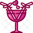 Cocktail Coconut Alcoholic Drinks Icon