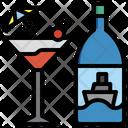Cocktail Beverage Glasses Icon