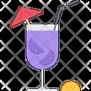 Cocktail Orange Straw Icon