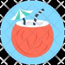 Coconut Drink Beach Icon