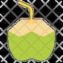 Coconut Water Fruit Healthy Food Icon