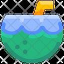Coconut Beach Drink Icon