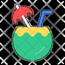 Coconut Drink Fruit Icon