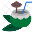Tropical Coconut Drink Icon